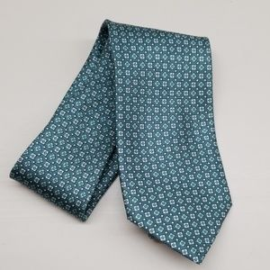 Jos A Bank Teal Green Blue Soft Italian Silk Tie